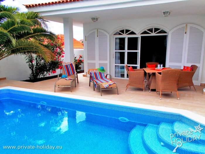 Ferienhaus Teneriffa Mit Pool , Ferienhaus Mit Privatpool Und Grill Im Süden Teneriffas,
