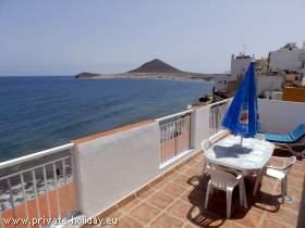 Ferienwohnung mit Meerblick in El Médano auf Teneriffa
