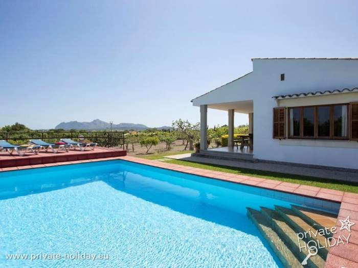 ferienhaus mit privatpool und panoramablick in alcudia