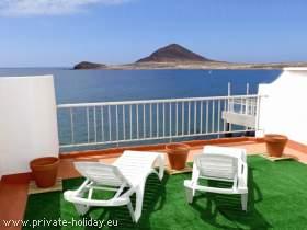 Schöne Ferienwohnung in El Médano auf Teneriffa in Strandnähe