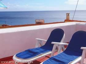 Ferienhaus in Strandnähe mit drei Sonnenterrassen und Blick