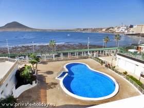 Ferienwohnung mit traumhaftem Meerblick und Pool in El Medano