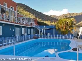 Ferienwohnung in San Andres mit Pool und möblierter Veranda