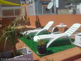 Wohnung mit möblierter Terrasse, strandnah in San Andres