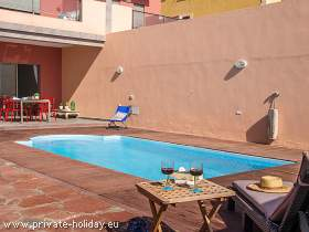 Apartment mit Terrasse & Pool