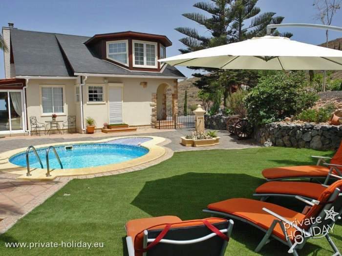 Haus Mit Pool Terrasse Sauna Und Whirlpool Bei Adeje