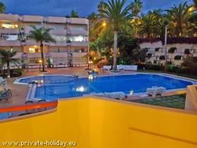 Ferienwohnung mit Balkon und Pool in La Paz-Puerto de la Cruz
