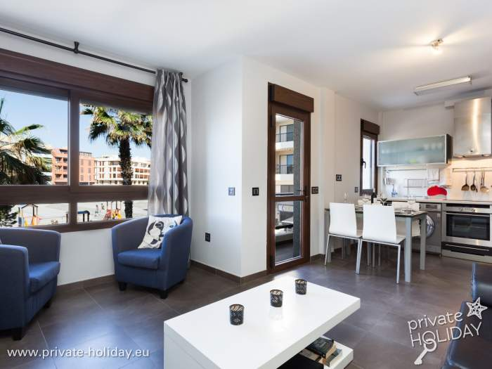 ferienapartment mit balkon und meerblick in el m dano. Black Bedroom Furniture Sets. Home Design Ideas