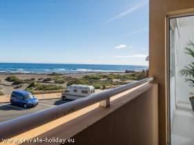 Fewo mit Balkon und Meerblick am Strand von Playa del Cabezo