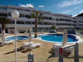 Strandnahes Ferienapartment mit Meerblick in Los Cristianos